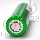 Vapcell 20700 Green/White 30A Flat Top 3500mAh Battery - Positive