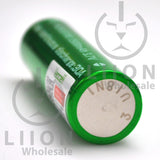 Vapcell 20700 Green/White 30A Flat Top 3500mAh Battery - Negative