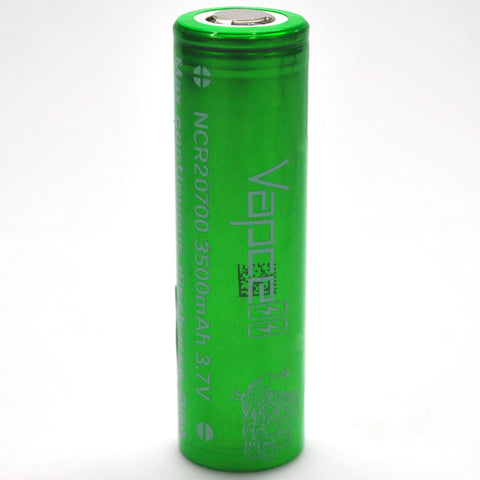 Vapcell 20700 Green/White 30A Flat Top 3500mAh Battery