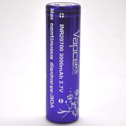 Vapcell 20700 Purple 30A Flat Top 3000mAh Battery
