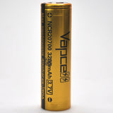 Vapcell 20700 Gold/Black 30A Flat Top 3200mAh Battery