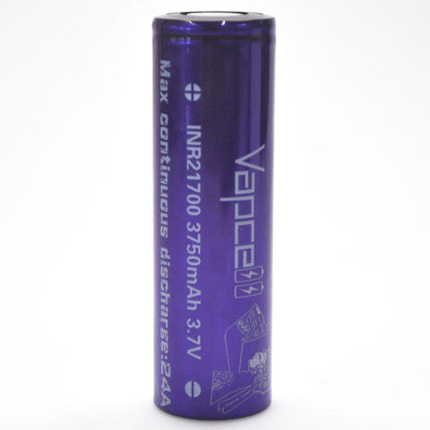 Vapcell 21700 24A Flat Top 3750mAh Battery