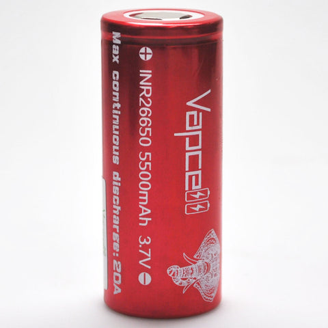 Vapcell 26650 20A Flat Top 5500mAh Battery