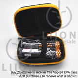 Protected Vapcell P1835A 18650 10A Button Top 3500mah USB Battery - Open Case