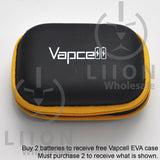 Protected Vapcell P1835A 18650 10A Button Top 3500mah USB Battery - Closed Case