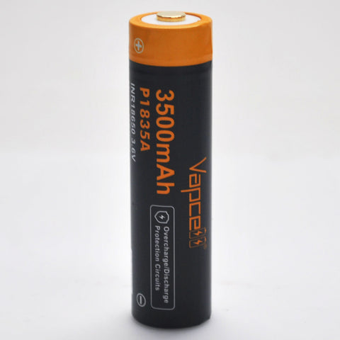 Protected Vapcell P1835A 18650 10A Button Top 3500mah USB Battery