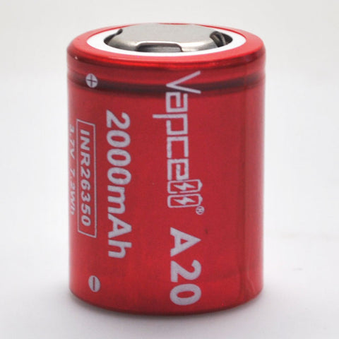 Vapcell A20 26350 6A Flat Top 2000mah Battery