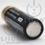 Protected Vapcell P1418A 14500 1.5A Button Top 1800mah 1.5V USB Battery - Negative