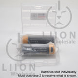 Protected Vapcell P1418A 14500 1.5A Button Top 1800mah 1.5V USB Battery - Open Case