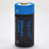 Protected Vapcell P1608A 16340 3A Button Top 800mah USB Battery