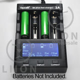Vapcell S4 Plus Battery Charger - Batteries on Charger