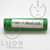 Sony/Murata VTC5A 30A-35A 2500/2600mAh Flat Top 18650 Battery - Shipping Sticker
