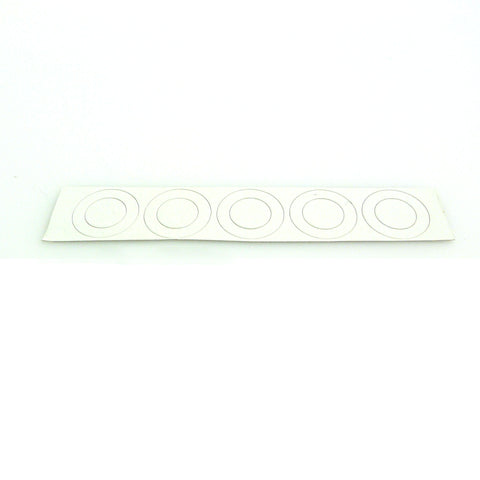 18650 flat top battery insulators - matte white