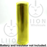 Transparent yellow battery wrap side view