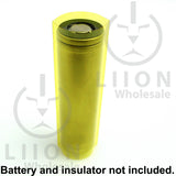 Transparent yellow battery wrap with insulator