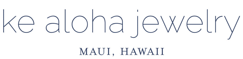Shop online at Ke Aloha Jewelry for modern, elegant gold and silver jewelry, necklaces, earrings, rings, bracelets handmade in Maui, Hawaii with Aloha.