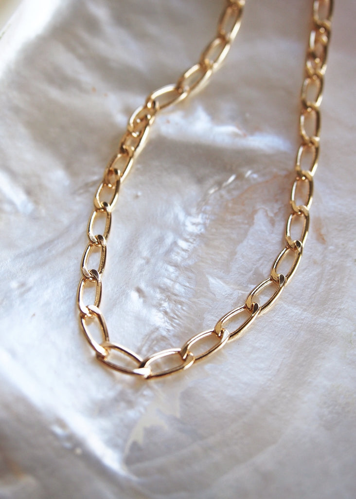 Gold Necklace - Chunky Gold Chain Necklace - Kakalina - Ke Aloha Jewelry