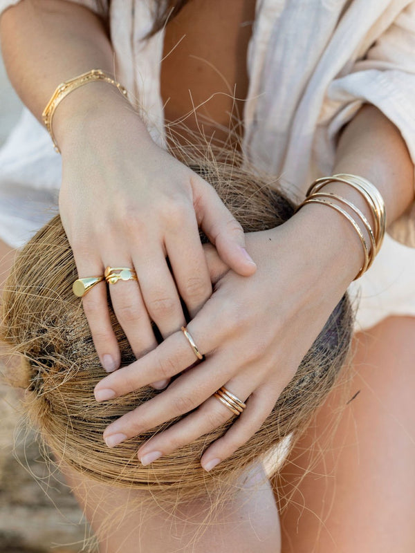 Rings - Gold Coin Ring - Ka'ohu - ke aloha jewelry