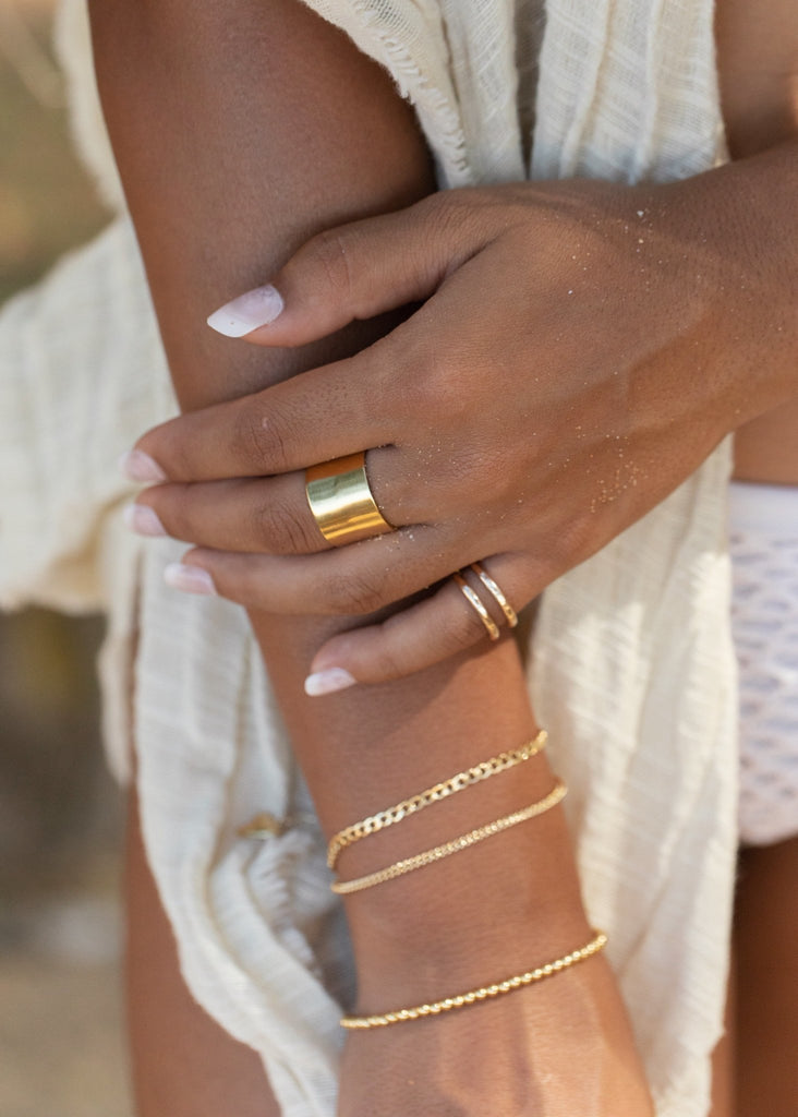 Rings - Gold Double Cuff Ring - Kau'i - Ke Aloha Jewelry