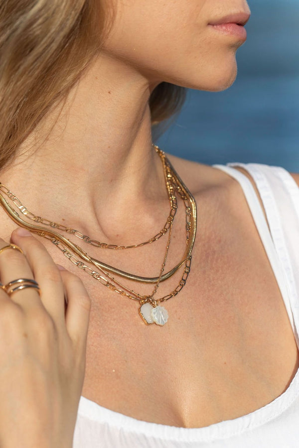 Gold Necklace - Gold Filled Fancy Mariners Chain Necklace - Keola - ke aloha jewelry