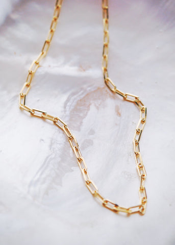 Gold Necklace - Gold Filled Link Chain Necklace - Kala'i - Ke Aloha Jewelry
