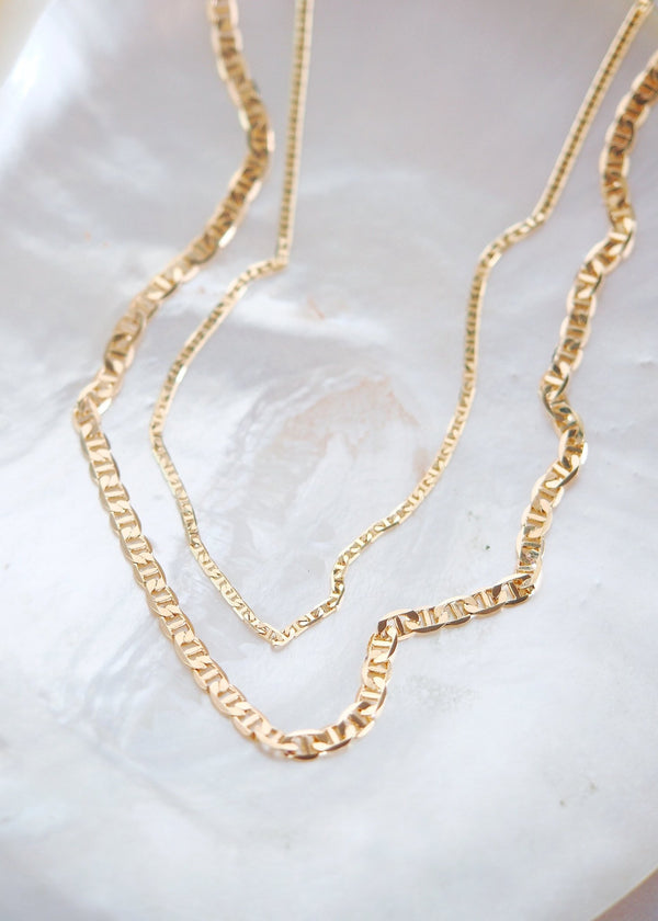 Gold Necklace - Gold Filled Mariners Chain Necklace - Kala - Ke Aloha Jewelry
