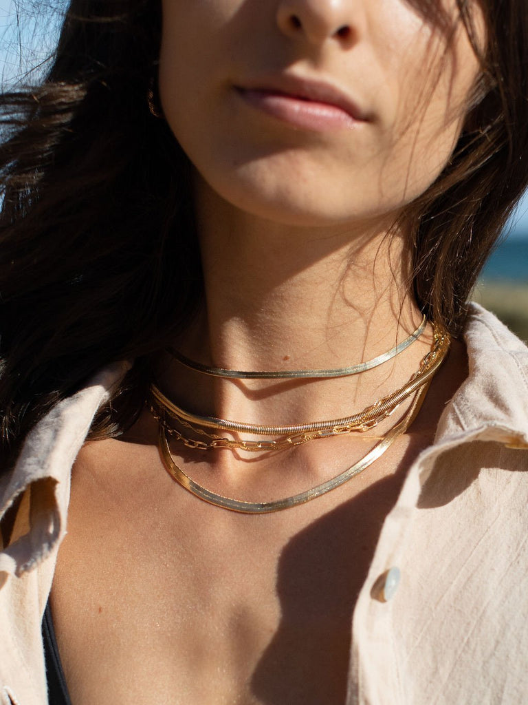 Gold Necklace - Gold Filled Paperclip Link Chain Necklace - Kala'i - ke aloha jewelry