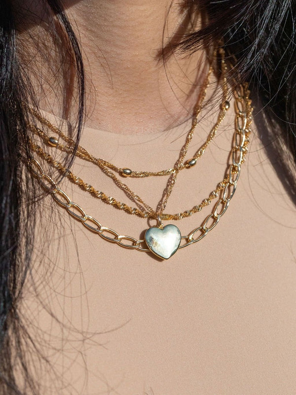 Gold Necklace - Gold Filled Twist Chain Necklace - Iolana - ke aloha jewelry