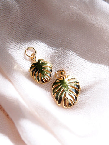Charm - Gold Monstera Charm - ke aloha jewelry