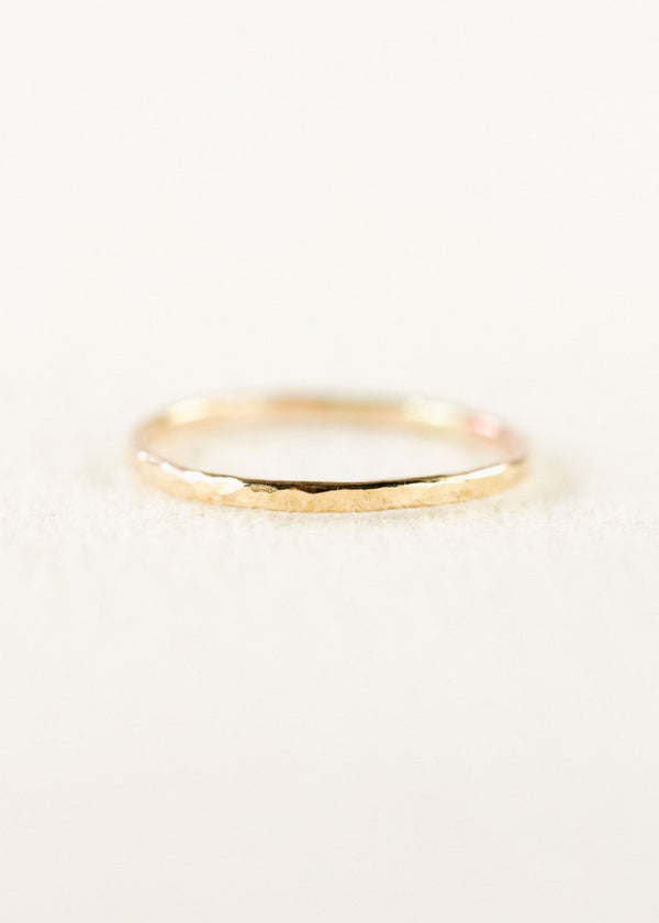 Hammered Gold Filled Stack Ring - Kaiko - Ke Aloha Jewelry