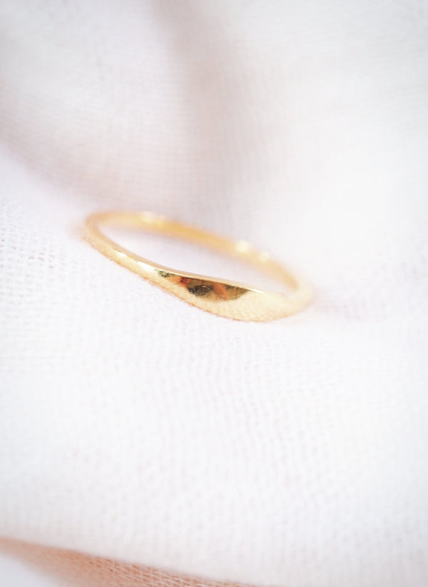 Rings - Mini Gold Signet Ring - Mohala - Ke Aloha Jewelry