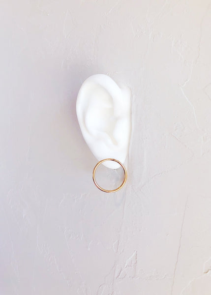 Minimal Gold Hoop Stud Earrings - Ho'ola'i - Ke Aloha Jewelry