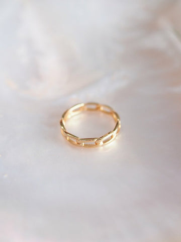 Rings - Modern Gold Chain Ring - Aukanai'i - Ke Aloha Jewelry