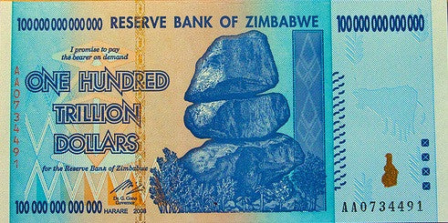 100 Trillion Zimbabwe Circulated Notes AA2008