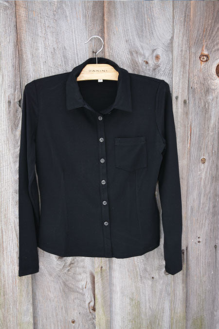 Jersey Button Front Shirt