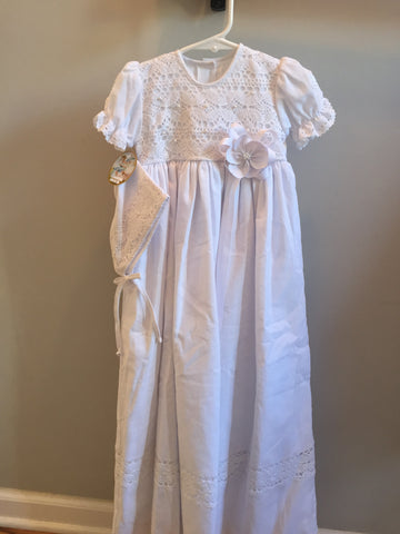 Will'beth Christening Gown & Bonnet