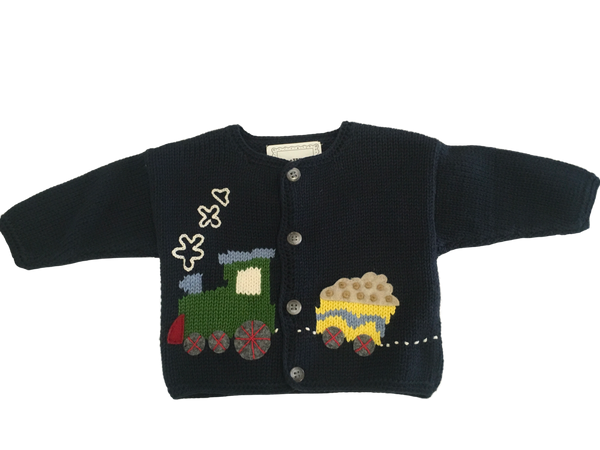 Art Walk Little Engine Cardigan - SOLD