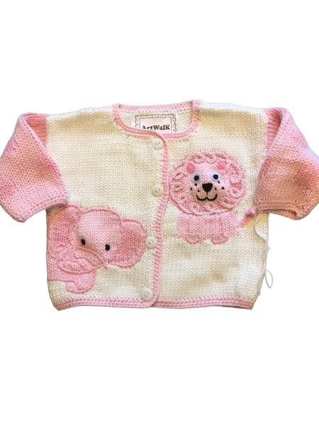 Art Walk Pink Jungle Baby Cardigan-SOLD