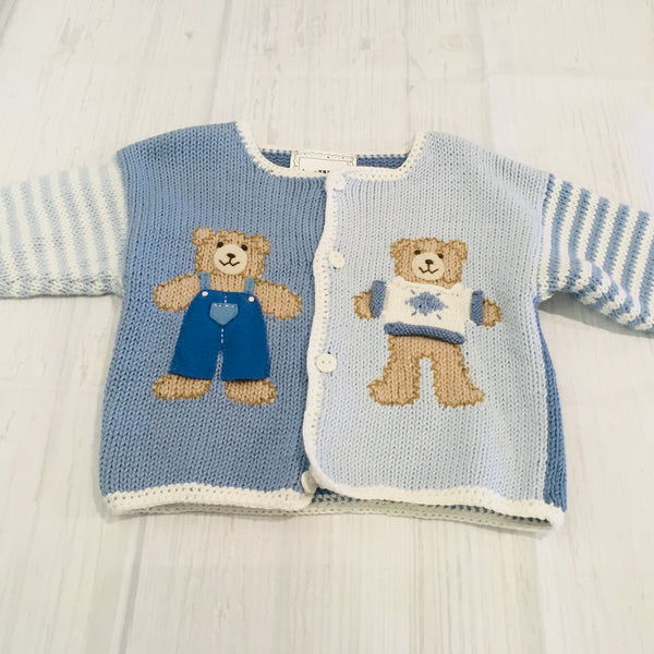 Art Walk Teddy Bear Cardigan Sweater