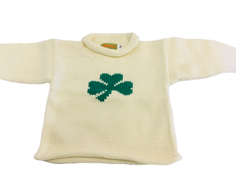 Baby Luigi Shamrock Roll Neck Sweater