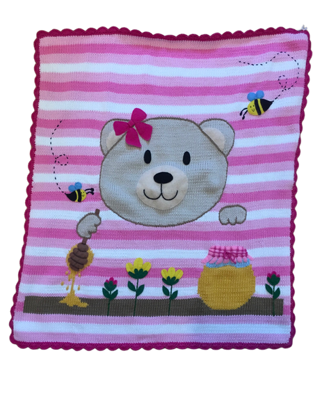 Art Walk Honey Bear Blanket