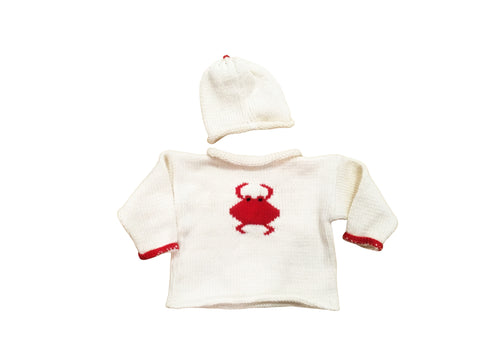 Hand knit Crab Sweater