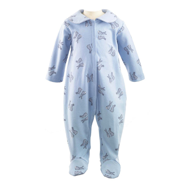 Rachel Riley Blue Bunnies Footie
