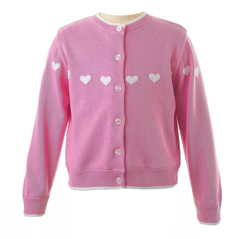 Rachel Riley Pink Heart Cardigan.