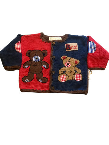 Art Walk Rugby Teddy Bear Sweater- SOLD