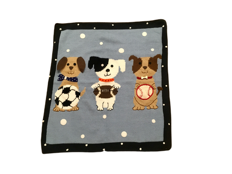 Art Walk Sports Dogs Blanket