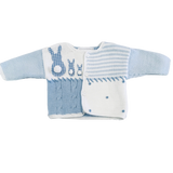 Art Walk Blue Bunny Gingham Cardigan Sweater-