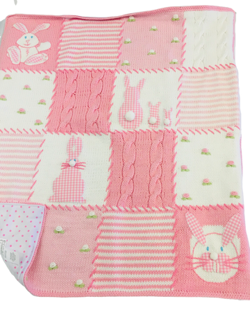 Art Walk Pink Bunny Blanket SOLD
