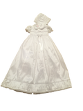 Short Sleeve Elegant Christening Gown