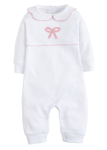 Little English Pink Bow Playsuit